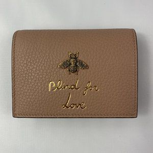 Gucci Cellarius Blind for Love Mini Wallet  - Rose